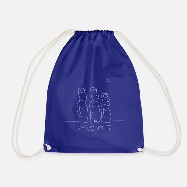 Easter Island Moais of Easter Island - Drawstring Bag