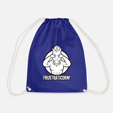 Frustration Frustraticorn - the frustrated unicorn - Drawstring Bag
