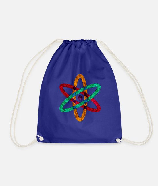 Atomic Age Bags & Backpacks - anatomic atomic atoms - Drawstring Bag royal blue