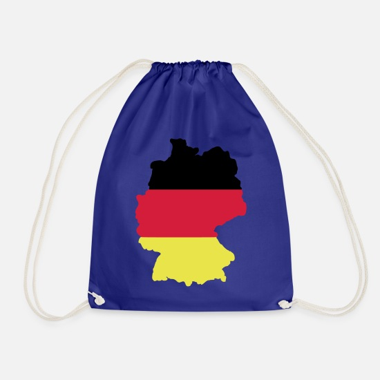 Federal Republic Of Germany Bags & Backpacks - Germany flag - Drawstring Bag royal blue