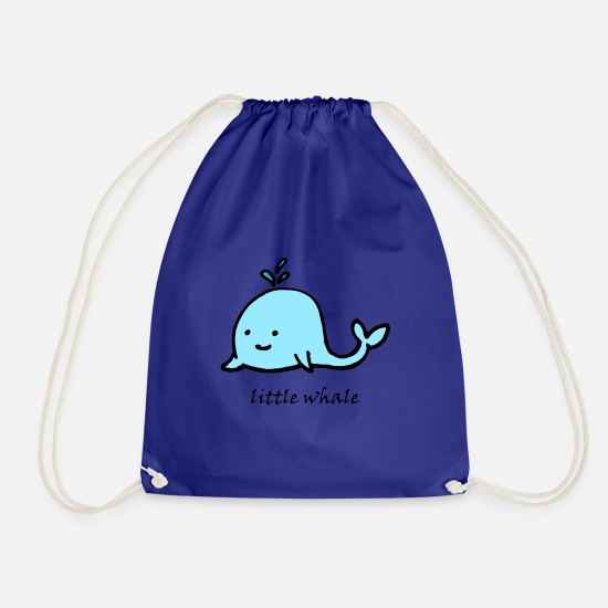 Love Bags & Backpacks - cute animal cute little whale - Drawstring Bag royal blue