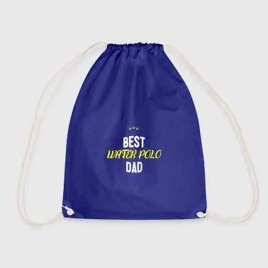 Distressed - BEST WATERPOLO DAD - Drawstring Bag