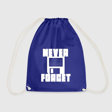 floppy disk never forget - Drawstring Bag