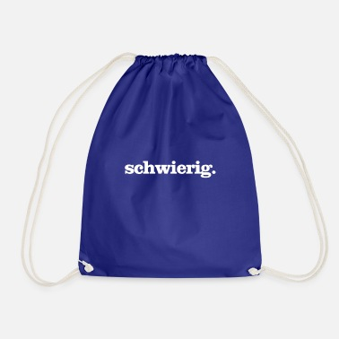 Difficult difficult - Drawstring Bag
