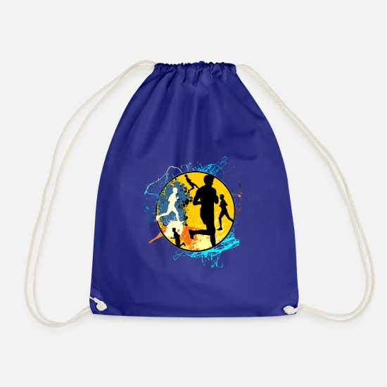 Gym Wear Bags & Backpacks - Running Sport Jogger Recreational Sports Gift Running - Drawstring Bag royal blue