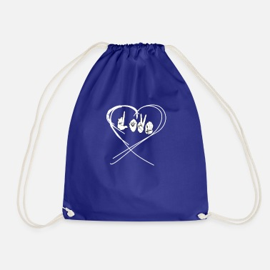 Hand Sign Sign Language Sign Language Love Hand Sign - Drawstring Bag