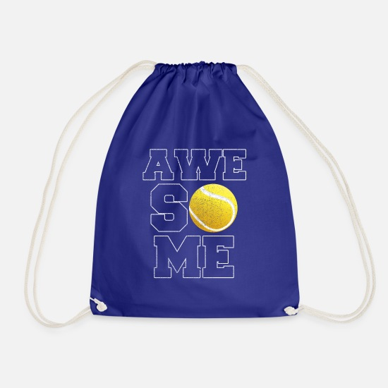 Tennis Match Bags & Backpacks - Awesome tennis - Drawstring Bag royal blue