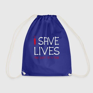 I Save Lives One Shot At A Time T-Shirt Pro - Worek gimnastyczny