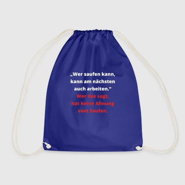 who can drink party malle jga beer - Drawstring Bag