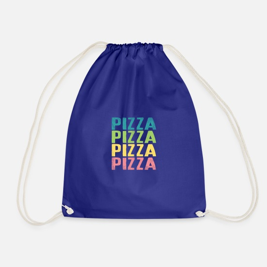 Gift Idea Bags & Backpacks - Pizza Pizza Pizza Pizza Pizza Gift - Drawstring Bag royal blue