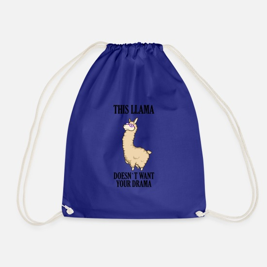 Gift Idea Bags & Backpacks - Lama drama - Drawstring Bag royal blue