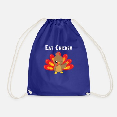 Otoño Eat Chicken Cute Thanksgiving Turkey Design - Mochila saco