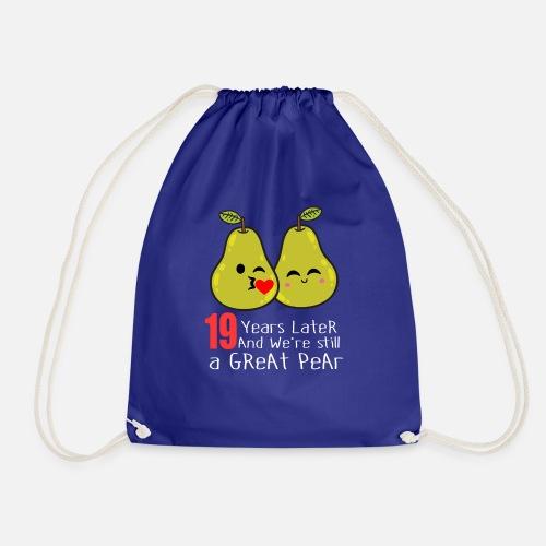 19 Hochzeitstag Lustiges Birnen Paar Geschenk Turnbeutel Spreadshirt
