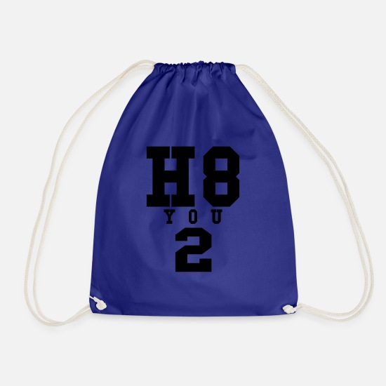 Love Bags & Backpacks - I hate you 2 - Drawstring Bag royal blue