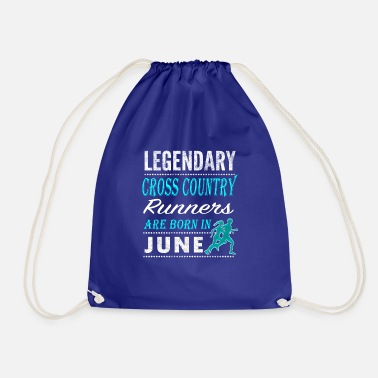 Boys Fun Cross country Legends are born in June - Drawstring Bag