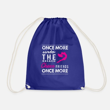 Breaching Funny Cheerleader gift once More breach cheer - Drawstring Bag