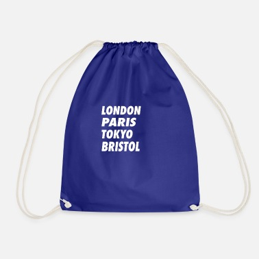Laugh Funny London Paris Tokyo Bristol Design - Drawstring Bag