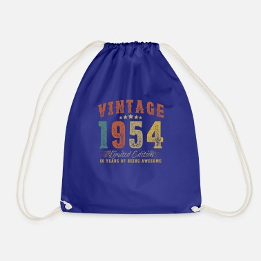April Gift for 66th birthday vintage 1954 66 years - Drawstring Bag