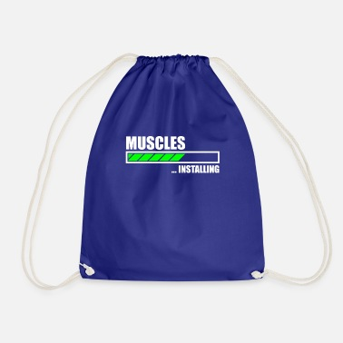 Funny Gym Installing Muscles Funny Gym - Drawstring Bag