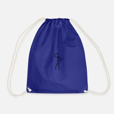 Stick Figure stick figure - Drawstring Bag