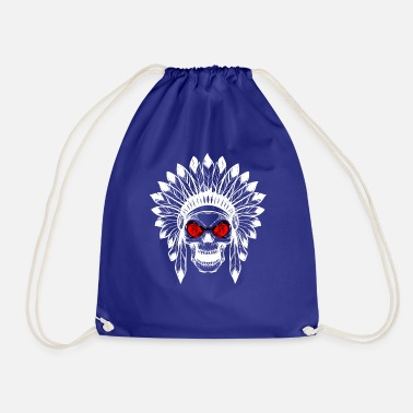 Gift - INDIAN TOTENKOPF wit - Gymtas