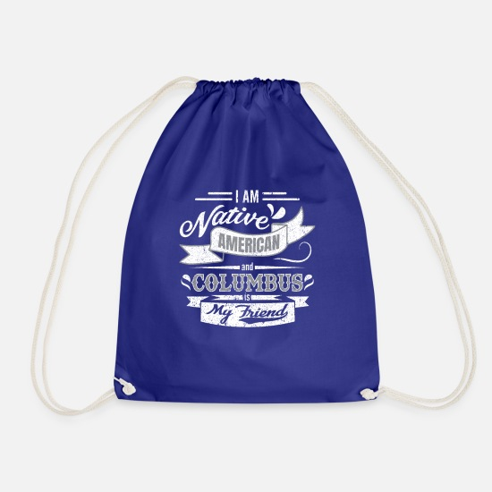 Gift Idea Bags & Backpacks - Discovery of America's Journey Christopher Columbus - Drawstring Bag royal blue