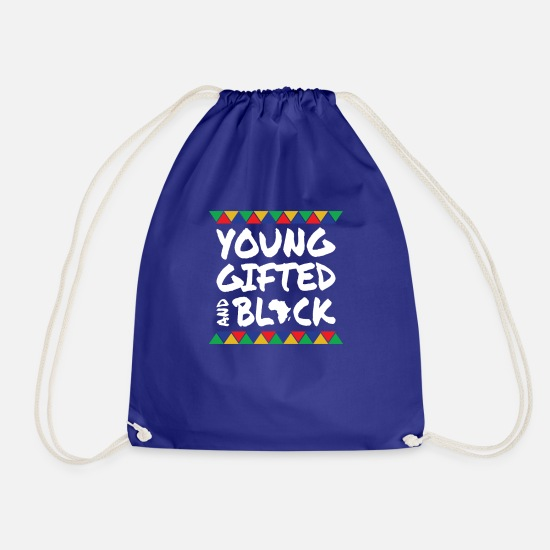Gift Idea Bags & Backpacks - Young Gifted & Black - Drawstring Bag royal blue
