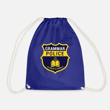First Day Of School Grammer Police Gift for Nerds, Gift Nerds - Drawstring Bag