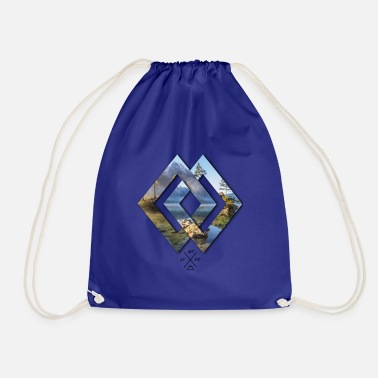 Berchtesgaden Rhombus Berchtesgaden Hintersee islands - Drawstring Bag