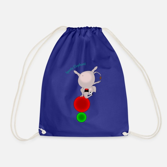 Comic Bags & Backpacks - Sporty Elephant - acrobatics - Drawstring Bag royal blue