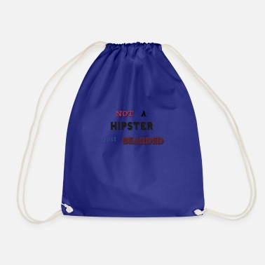 Mänlich Not a hipster just bearded - Drawstring Bag