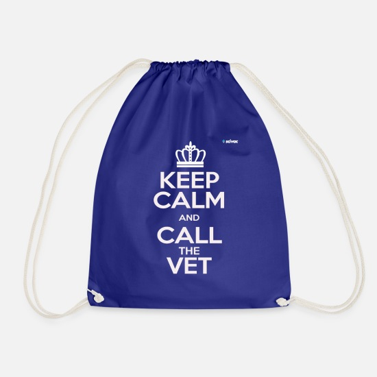Presentare Borse & Zaini - KEEP CALM and call the Vet - Sacca sportiva blu royal