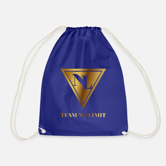 No Limit Bags & Backpacks - TeamNoLimit - Drawstring Bag royal blue