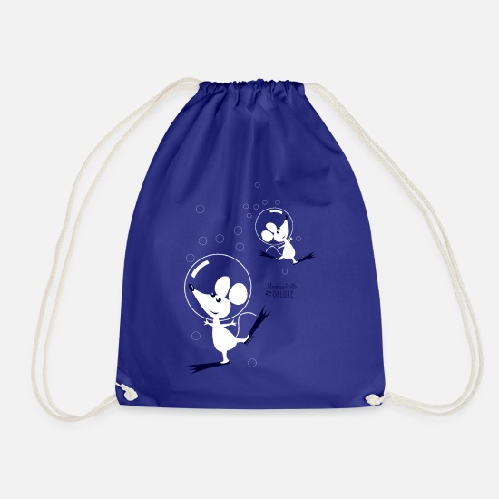 Cat Bags & Backpacks - Mademoiselle Deluxe Dancing Mouses - Drawstring Bag royal blue