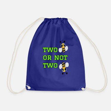 Bee to bee or not to bee - Fleeting Bee - Drawstring Bag