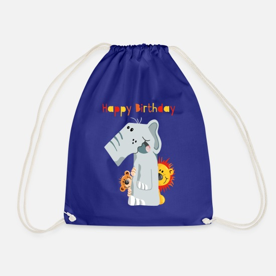 Africa Bags & Backpacks - Happy Birthday - Erster Geburtstag - Zahl Eins - Drawstring Bag royal blue