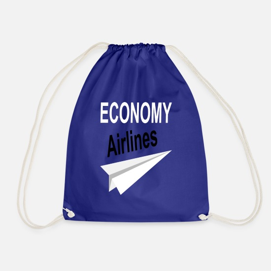 Airline Bags & Backpacks - airlines - Drawstring Bag royal blue
