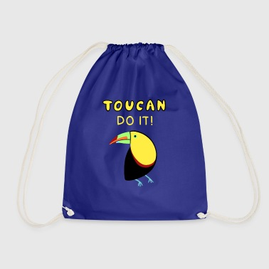Toucan tropics bird motivation saying funny - Drawstring Bag