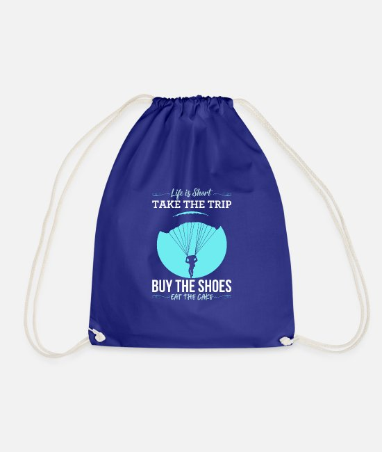 Thermals Bags & Backpacks - Life Is Too Short Do It. gift - Drawstring Bag royal blue