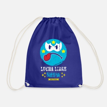 Officialbrands SmileyWorld Blue Luchador - Drawstring Bag
