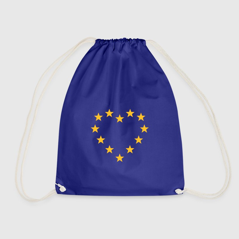 EU stars heart, Europe, flag, european union - Drawstring Bag