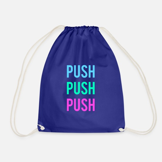Stylish Bags & Backpacks - push - Drawstring Bag royal blue