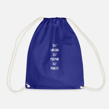 Unicorn, mermaid, princess gift - Drawstring Bag