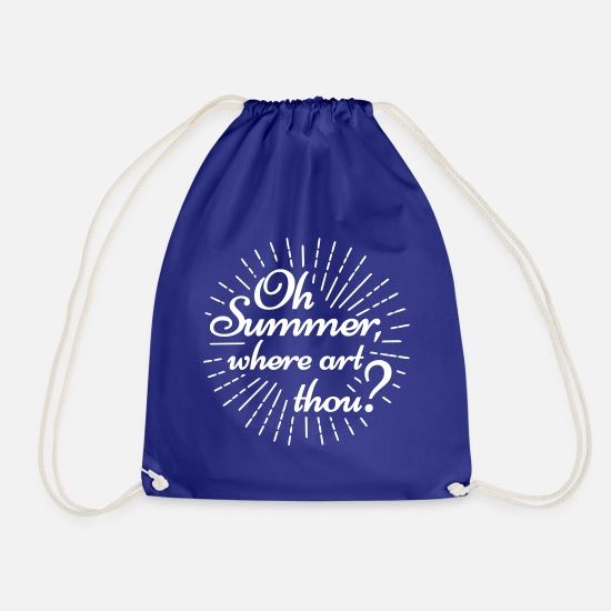 Coast Bags & Backpacks - Oh summer where art thou Hamburg North Coast Kiel - Drawstring Bag royal blue
