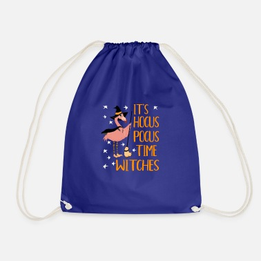 Het is Hocus Pocus Time Witches Funny Flamingo - Gymtas