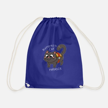 Buttered Cat Paradox Cat Butter Bread Gift - Drawstring Bag