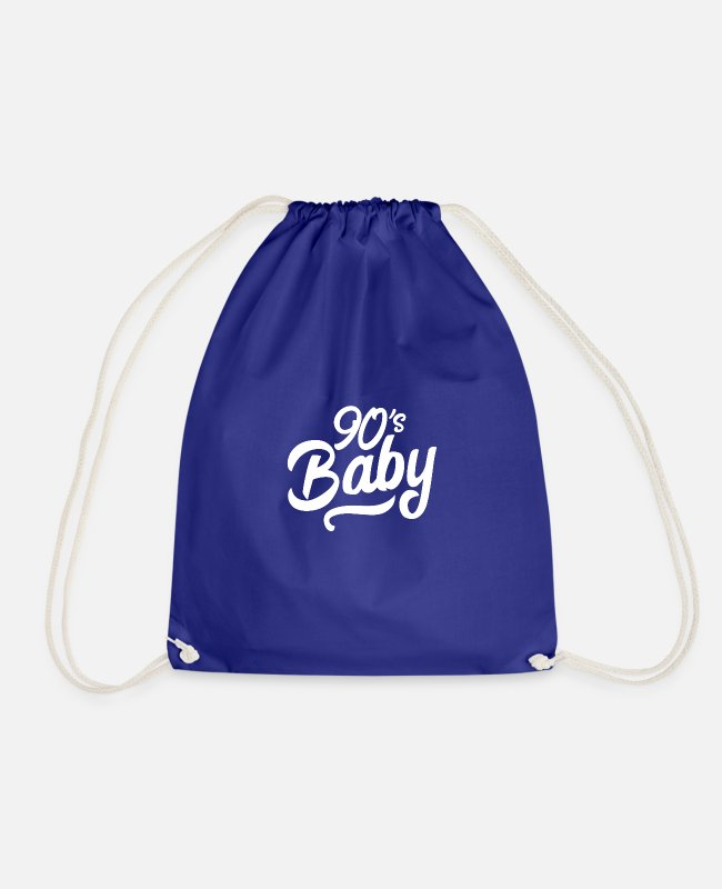 Nineties Bags & Backpacks - 90s baby hand lettering - Drawstring Bag royal blue