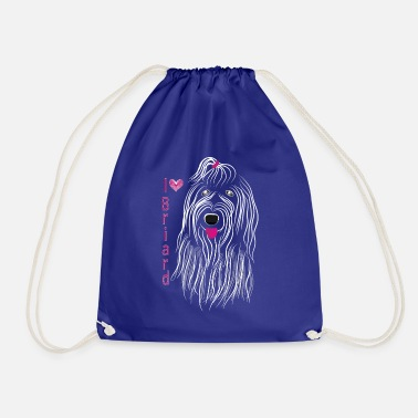 Purebred Dog BRIARD dog dogs dog portrait purebred dog - Drawstring Bag