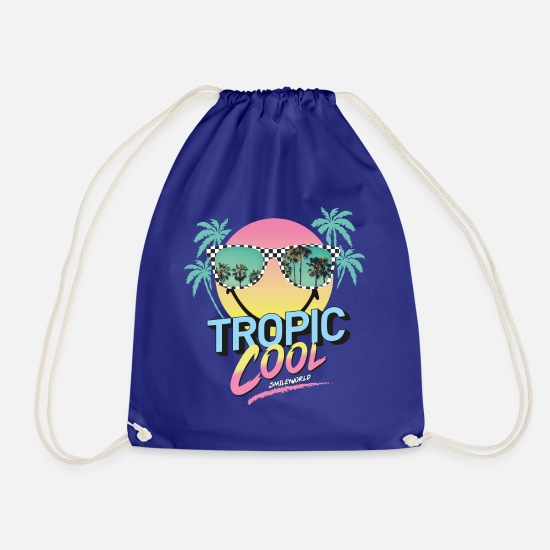 Officialbrands Bags & Backpacks - SmileyWorld Tropic Cool - Drawstring Bag royal blue