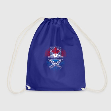 Canada gift maple flag Vancouver pride heritage - Drawstring Bag